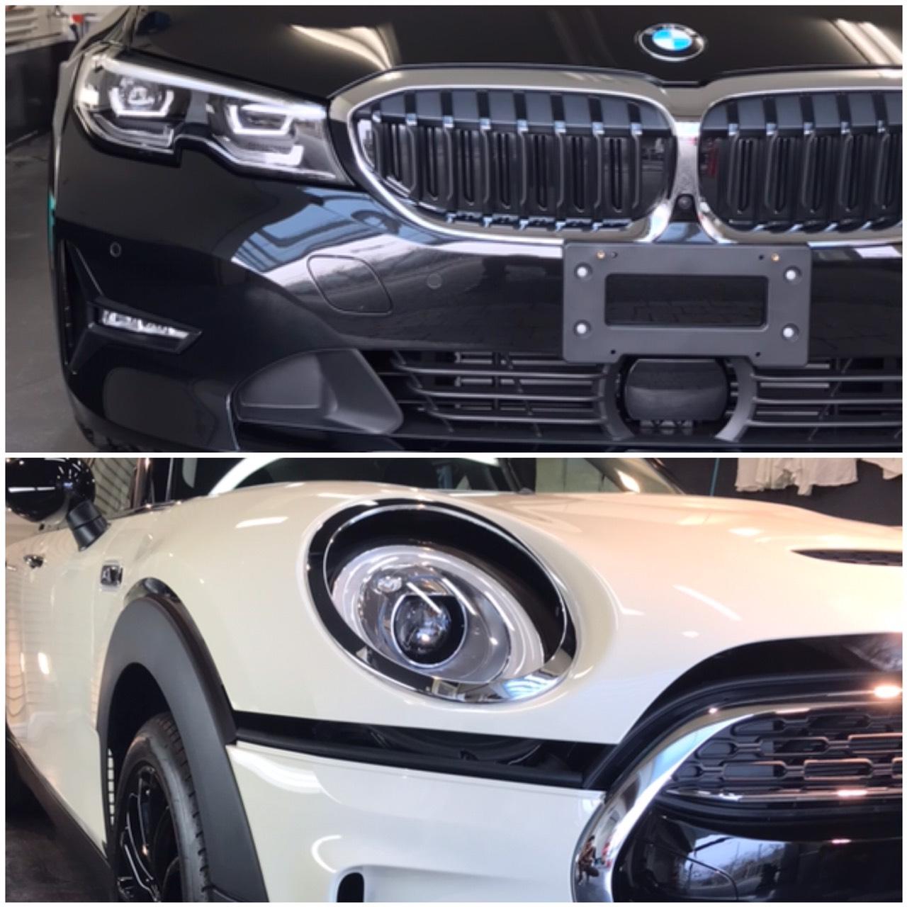 本日の業務!BMW3シリーズ&MINIクラブマン