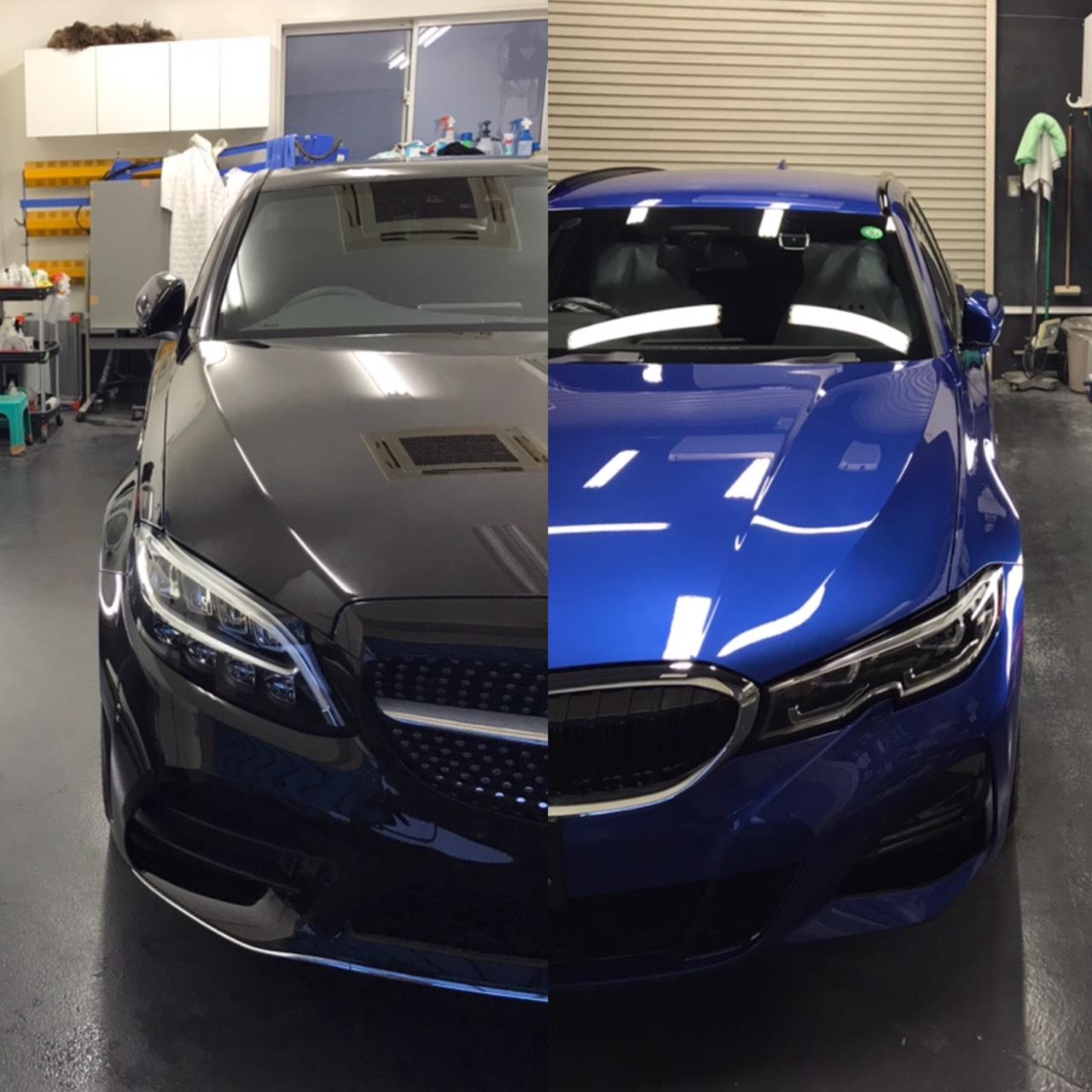 本日の業務!BMW3ツーリング&MB Cクラス